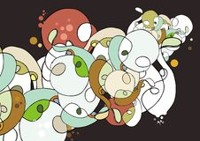 Griffonnage abstrait coloré illustration libre de droits
