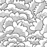Griffonnage abstrait sans couture Image libre de droits