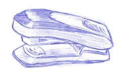 Griffonnage d'agrafeuse Image libre de droits