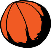 Griffonnage d'isolement de basket-ball Images stock