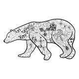 Griffonnage d'ours blanc illustration libre de droits
