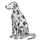 Griffonnage dalmatien de chien Photographie stock