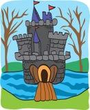 Griffonnage de château de conte de fées Images stock