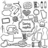 Griffonnage de couture d'accessoires Photos stock