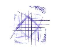 Griffonnage de crayon lecteur et d'encre Images libres de droits