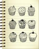 Griffonnage de gâteau Images libres de droits
