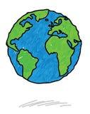 Griffonnage de la terre Photos libres de droits
