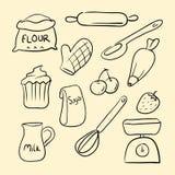 Griffonnage de marchandises de cuisson Photos libres de droits