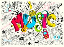 Griffonnage de musique Image stock
