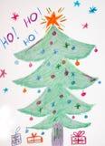 Griffonnage de Noël illustration libre de droits