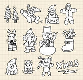 Griffonnage de Noël Image libre de droits