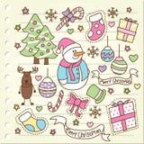 Griffonnage de Noël Photos libres de droits