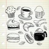 Griffonnage de nourriture Photographie stock libre de droits