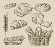 Griffonnage de pain Images libres de droits