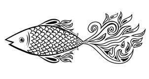Griffonnage de poissons illustration de vecteur