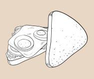 Griffonnage de sandwich Images libres de droits