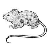 Griffonnage de souris Photographie stock