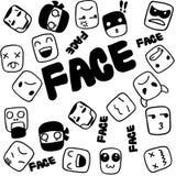 Griffonnage de visage pour des enfants Photos libres de droits