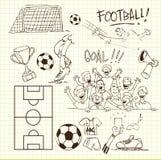Griffonnage du football Image stock