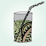 Griffonnage en verre Photos libres de droits