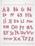 Griffonnage et rayure d'enfants d'alphabet Images stock