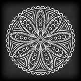 Griffonnage Mandala Flower Images stock