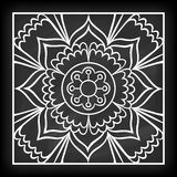 Griffonnage Mandala Flower Illustration Stock