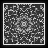 Griffonnage Mandala Flower Illustration Libre de Droits