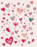 Griffonnage mignon de valentine Photos stock
