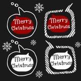 Griffonnage réglé d'icônes de Noël Photos libres de droits