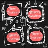 Griffonnage réglé d'icônes de Noël Image stock