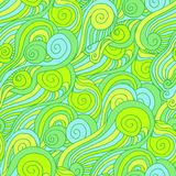 Griffonnage sans couture de modèle de spirale en spirale Photos libres de droits