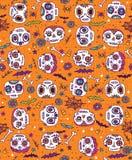 Griffonnage Sugar Skull Seamless Vector Pattern illustration stock
