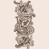 Griffonnage tiré par la main de Henna Mehndi Abstract Mandala Flowers et de Paisley Images stock
