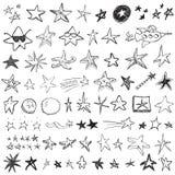 Griffonnages d'étoile Images libres de droits
