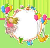 Griffonnages d'anniversaire Images stock