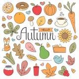 Griffonnages d'automne Photographie stock libre de droits