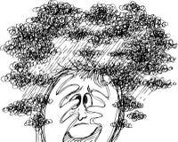 Griffonnages de croquis : effort et confusion Images stock
