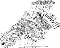 Griffonnages de croquis : Hâte ! Images libres de droits