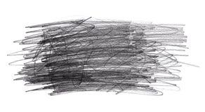 Griffonnages de griffonnage de crayon d'isolement sur le fond blanc image stock