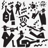 Griffonnages de jazz-band Images libres de droits