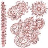 Griffonnages de Mehndi Paisley de henné Photo libre de droits