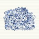 Griffonnages de spirale Images libres de droits