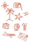 Griffonnages de vacances Image libre de droits
