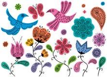 Griffonnages floraux Photos libres de droits