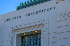 Griffth Beobachtungsgremium-Teleskop stockbild