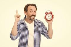 Griffwecker der zuf?lligen Art des Mannes Zeitmanagement und Aufschub Kontrollieren Sie Zeit ?berpr?fen Sie Zeit Idee von lizenzfreie stockfotos