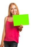 Griffzeichenkarte der jungen Frau Stockfotografie