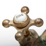 Grifo de la agua fría de la vendimia Imagen de archivo libre de regalías