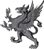 Grifon heraldic symbol Stock Photos